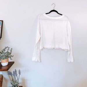 FREE PEOPLE | White textured blouse